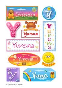 Yurena, nombre para stickers