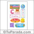 Cinthia, nombre para stickers