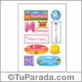 Mauritana, nombre para stickers