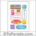 Stephanie, nombre para stickers