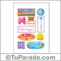 Mariangel, nombre para stickers