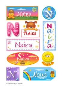 Naira, nombre para stickers