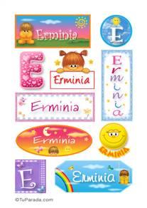 Erminia, nombre para stickers