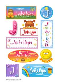Jehilyn, nombre para stickers