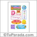 Dominga, nombre para stickers