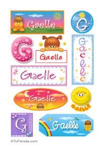 Gaelle, nombre para stickers