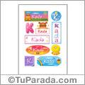 Kada, nombre para stickers
