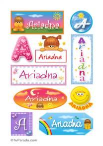 Ariadna, nombre para stickers