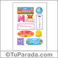 Millaray, nombre para stickers