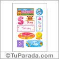 Skay, nombre para stickers