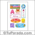 Alina, nombre para stickers