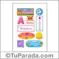 Abadesa, nombre para stickers