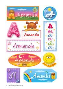 Amanda, nombre para stickers