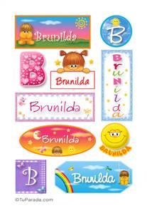 Brunilda, nombre para stickers