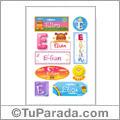 Elian, nombre para stickers
