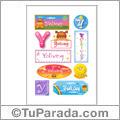 Yolivey, nombre para stickers