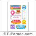 Otilia, nombre para stickers