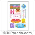 Haley, nombre para stickers