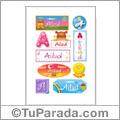 Ailud, nombre para stickers