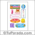 Ivelisse, nombre para stickers