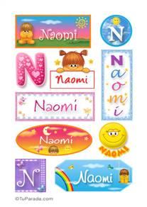 Naomi, nombre para stickers