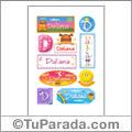 Daliana, nombre para stickers