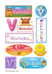 Vechuska, nombre para stickers
