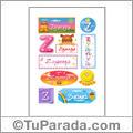 Zyanya, nombre para stickers