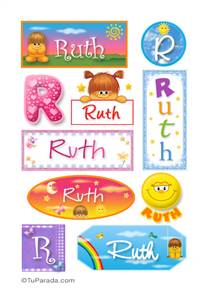 Ruth, nombre para stickers