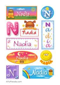 Nadia, nombre para stickers