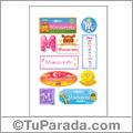 Monserrate, nombre para stickers