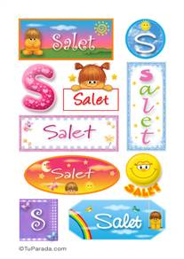 Salet, nombre para stickers