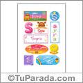 Syra, nombre para stickers