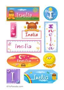 Inelia, nombre para stickers