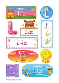 Liz, nombre para stickers