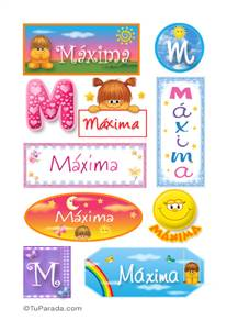 Máxima, nombre para stickers