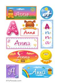 Anna, nombre para stickers