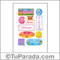 Gibsam, nombre para stickers