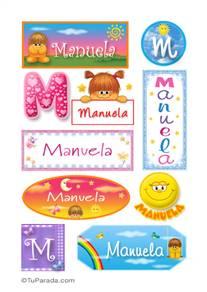 Manuela, nombre para stickers