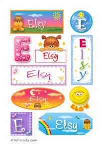 Elsy, nombre para stickers