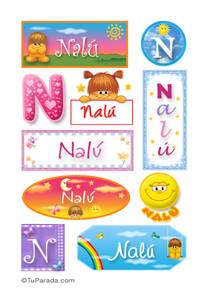 Nalú, nombre para stickers