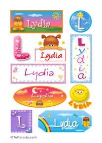 Lydia, nombre para stickers