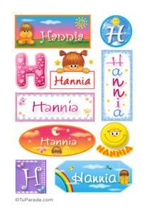 Hannia, nombre para stickers