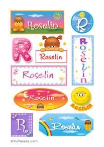 Roselin, nombre para stickers