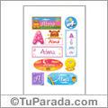 Alma, nombre para stickers