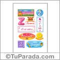 Zurama, nombre para stickers