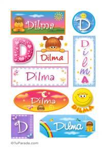 Dilma, nombre para stickers