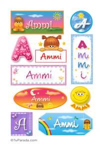 Ammi, nombre para stickers