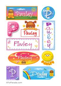 Pauley, nombre para stickers