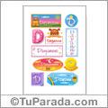 Dayanne, nombre para stickers